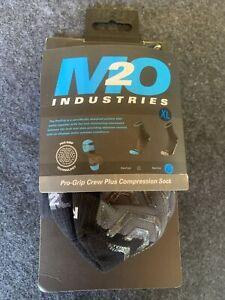 M2O PRO GRIP CREW COMPRESSION SOCKS BIKE BICYCLE MUSCLE MTB ROAD BLACK X LARGE