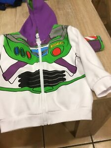 buzz lightyear Boys Hoddie Age 2/3 From Primark Lovely Condition