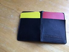 New listing Soccer Referee Wallet Red Card Yellow Card
