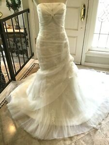 St. Patrick 28218 wedding dress bridal gown Fit & Flare Ivory US 12 UK 14 NWT