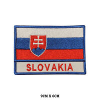 SLOVAKIA National Flag Embroidered Patch Iron on Sew On Badge For Clothes etc