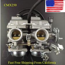 For Honda Rebel CA CMX 250 C CMX250 CA250 Carburetor Dual Carb ASSY Set Chamber