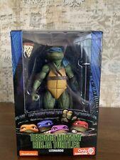 "LEONARDO NECA Ninja Turtles 1990 Movie GAMESTOP Exclusive 7"" LOOSE INCOMPLETE"