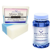 Relumins Whitening Set - Advance White Oral Glutathione & Soap NEW! w/ Rose Hips