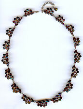 Vintage belleza Facetado Granate collar cristal