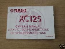 Betriebsanleitung Yamaha XC 125 Stand 1980