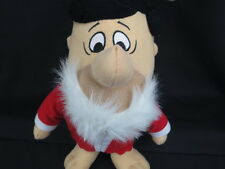 BIG FRED FLINSTONE CHRISTMAS SANTA CLAUSE COSTUME RED HAT SUIT PLUSH STUFFED TOY