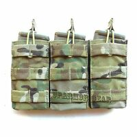 Multicam MOLLE Triple 5.56 mm Rifle Mag Pouch Open Top pull tab (CONDOR MA27)