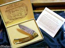 Boker Hardwood Lockback Knife American Hardware Industry #3853 Packaging,Papers