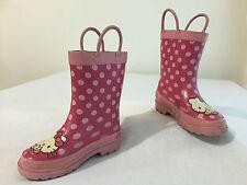 Hello Kitty Sanrio Rain Boots Fuchsia & Pink Little Girl's Size 7-8