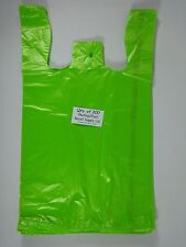 300 Qty Lime Green Plastic T Shirt Retail Shopping Bags Handles 115 X 6x 21