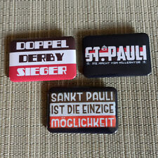 3 ULTRAS FC ST. PAULI / HAMBURG / RECHTECK BUTTON / PIN / BADGE / 60/40 mm / Top
