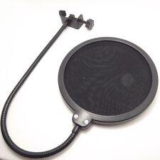 Microphone Mic Double Layer StudioWind Screen Mask Gooseneck Shield Pop Filter