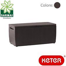 Keter Capri baule cassapanca per esterno e interno in resina effetto rattan 302L