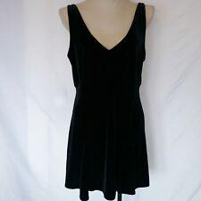 Victorias Secret Womens Black Dress Size Large Velvet Goth Formal Funeral