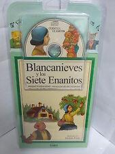 BLANCA NIEVES Y LOS SIETE ENANITOS LIBRO Y AUDIO CD CUENTOS ESPANOL ILUSTRADO