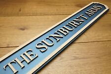 Personalised Pub Sign / Family Name Plaque / Street Sign - Wooden - Free UK P&P