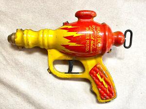 Buck Rogers Liquid Helium Water Pistol Tin Original From 1938 Rare Space Gun