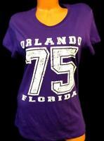 U.s. apparel purple orlando florida 75 short sleeve crew neck t-shirt top 2XL