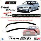 BMW 3 E46 3-doors 2001-2004 Compact Hatchback 2-pc Wind Deflectors HEKO Tinted