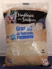(3,33€/KG) 3 Kg Gros sel de Guerande-Meersalz grob-grau-Bretagne/Frankreich