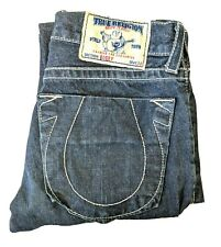 True Religion Mens W33 L34 Jeans Bobby Made In USA Pants Blue Denim Trousers