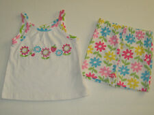 New BABYBOOTS Size 12 Months (20 LB) Girl's Multi-Color Shirt &  Shorts Set