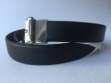 NEW Men's COACH Reversible Belt Cut To Size Black Brown Textured Leather F59116