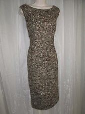 Talbots Womens Plus Size 16 1X XL Green Brown Tweed Wool Blnd Sheath Shift Dress