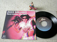 "RUSS BALLARD Here Comes The Hurt / Breakdown 1981 HOLLAND 7""+PS EPIC 9489, M-!"