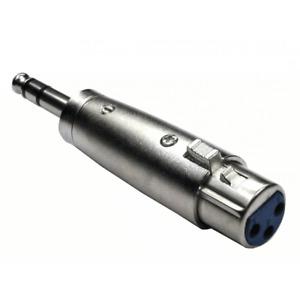 "3 Pin XLR Female to 1/4"" 6.35mm 3 Pole Stereo Mono Jack Male Plug Audio Adapter"