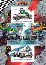 Formula 1 F1 Grand Prix Racing Cars & Drivers / Car Stamp Sheet (2012 Burundi)