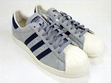 adidas Originals Superstar 80s Suede Grey Silver Petrol Vintage Rare UK 12