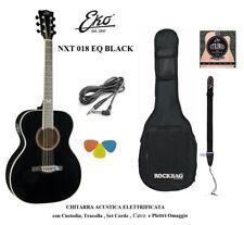 Eko NXT 018 EQ Black Chitarra acustica Amplificata Nera
