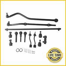 13x Suspension&Steering Kit Tie Rod Drag Link Track Bar for Jeep Tj Wrangler