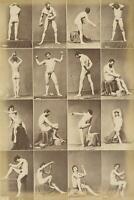 c. 1860's A. Calavas Male Nude Studies Albumen Photograph GAY BULGE BEEFCAKE