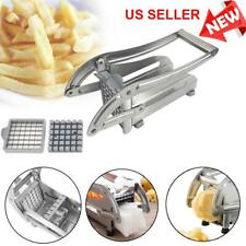 Stainless Steel French Fry Cutter Vegetable Slicer Chopper Dicer 2 Blades
