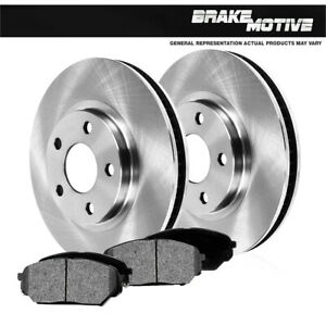 Front OE Brake Disc Rotors And Metallic Pads For Volvo 850 C70 S70 V70 XC AWD