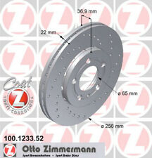 Disco de freno AUDI VW Perforado Coat Z 256x22mm GOLF IV , A1, Polo 9n