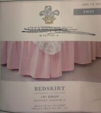 "Simply Shabby Chic Pink Ruffled Bedskirt ~ Twin ~ 15"" Drop"