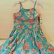 OshKosh BGosh Toddler Girls 4T Sundress Blue Floral New