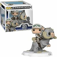 "STAR WARS 40TH LUKE WITH TAUNTAUN 2 PACK 3.75"" POP VINYL FIGURE FUNKO 366"