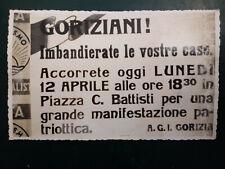 FOTO CARTOLINA GORIZIA 12 APRILE 1948 DI MANIFESTO PATRIOTTICO A.G.I. GORIZIA