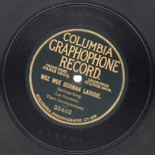 "10"" 78 Stormont, Leo ""Wee Wee German Lairdie"" COLUMBIA GRAPHOPHONE RECORD 25462"