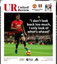 Manchester United Man Utd vs Fulham 2018/19 Premier League Programme