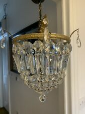 Antique Crystal Chandelier With Over 100  Crystals