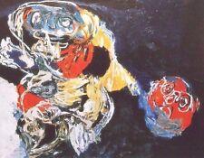 """KAREL APPEL mounted vintage print, Stedelijk 1956, COBRA art brut 12 x 10"""" AR04"""