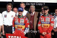 Eddie Irvine & Rubens Barrichello Jordan F1 Team Portrait 1995 Photograph 2