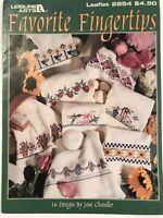 Favorite Fingertips Cross Stitch Leaflet 2854 Leisure Arts Charts Jane Chandler