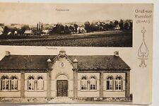 26196 AK Gruß aus Russdorf Sa.-Anhalt Total und Turnhalle 1911
